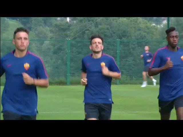 Pinzolo Florenzi svolge la parte atletica in gruppo! AS Roma