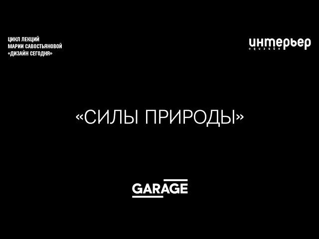 Лекция Марии Савостьяновой в Музее «Гараж». [02] - Силы природы