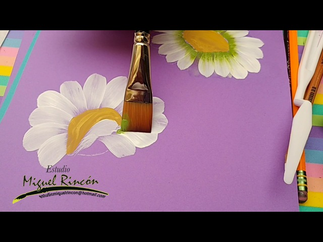 Margaritas en pinceladas con Miguel Rincón