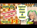 Typical chess traps and tricks in the Philidor Defense