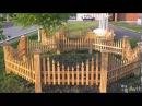 Маленькие уютные декоративные заборчики для дачи огорода