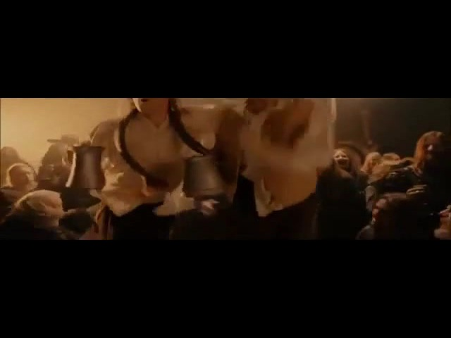 Hobbits dancing on the table