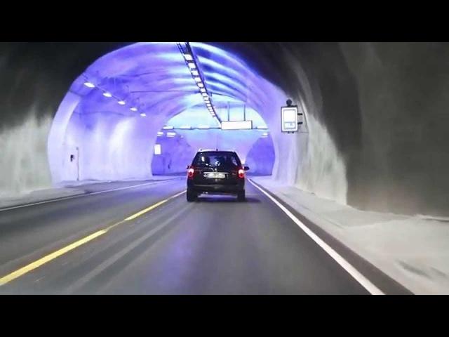 Tunnel-roundabout-Hardanger bridge-roundabout
