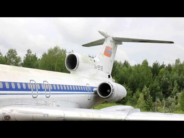Запуск двигателя Ту-154Б-1 RA-85165. УАТБ СибГАУ, Емельяново. Вер. 2.