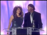 All Saints win British Single presented by Pam Grier Samuel L. Jackson - BRIT Awards 1998