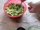 Пирожки с зеленым луком и яйцом на кефире