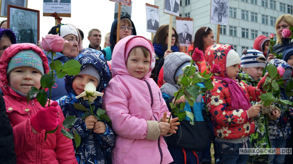 митинг к 9 мая, Чайковский, площадь Уральских танкистов, 2017 год