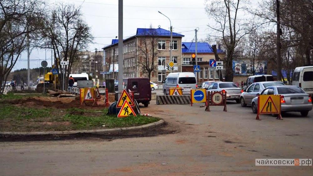 Чайковский, ремонт дорог, 2017 год