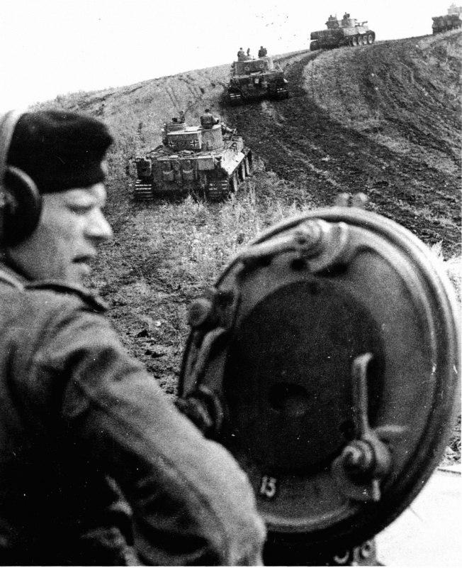 «Тигры» из состава 503-го батальона тяжелых танков на Курской дуге.