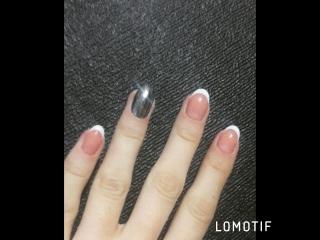 Коррекция нарощенных ногтей + гель лак
