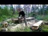 Пилорама из бензопилы двух досок и саморезов   Homemade Chainsaw Milling