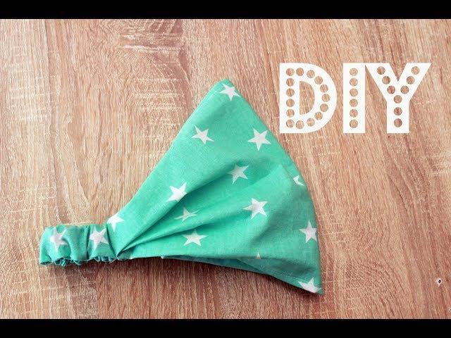DIY Как сшить косынку на резинке своими руками за 5 минут
