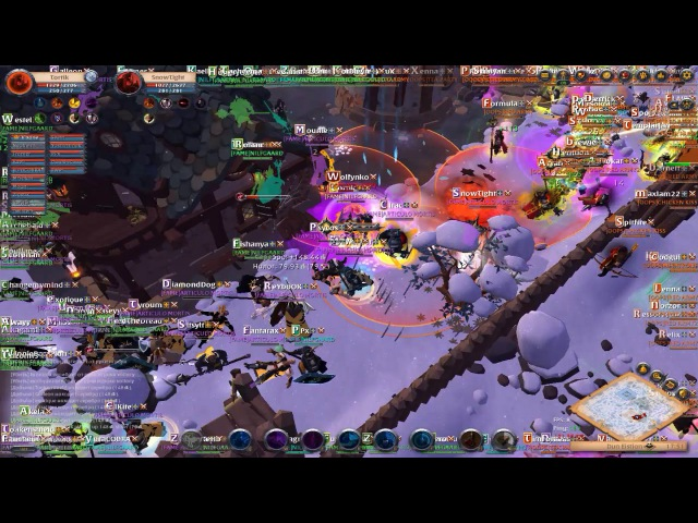 Albion Online ZERG Police/FAME ALLY VS OOPS ALLY ZVZ OVER 100ppl