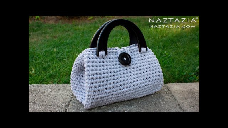 DIY Tutorial - Crochet Easy Casual Friday Handbag with Lining - Lined Purse Bag Bolsa Borsa