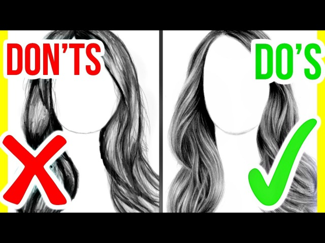 DO'S DON'TS: How to Draw Realistic Hair | Step by Step Drawing Tutorial