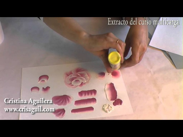 Curso pintura muticarga , pintar rosas , Painting roses, one stroke painting