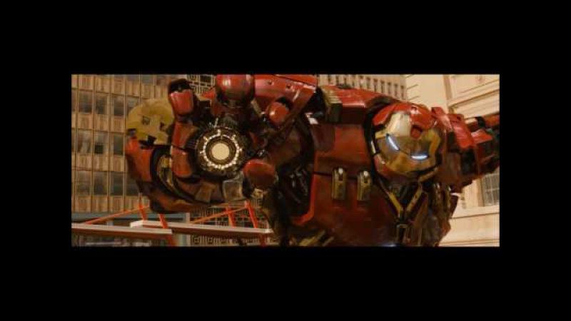 Homem de Ferro (Hulkbuster) vs Hulk DUBLADO - Vingadores Era de Ultron (2015) HD