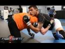 Anthony Pettis vs. Rafael Dos Anjos- Ful Video- Dos Anjos training w/ Ellenberger, Bisping, Munoz