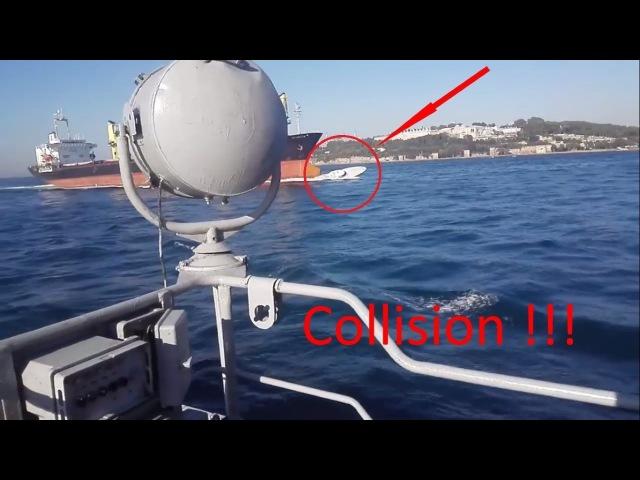Столкновение. Босфор. Катер турецкой береговой охраны и сухогруз MV Tolunay. Collision. Bosp...