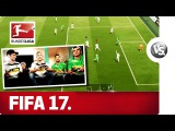Игроки Гладбаха играют в FIFA