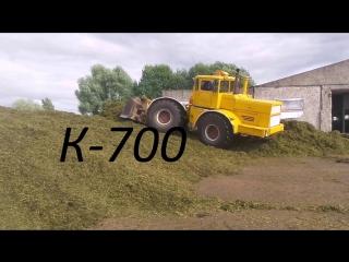 Кировец К 700 701 на трамбовке