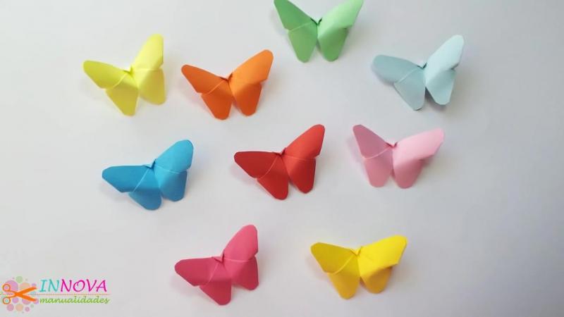 бумажные бабочки 3d