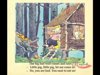 Английский для Детей. Сказка - Три Поросенка _ The Three Little Pigs