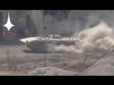 Видео-кадры военных операций армии в районе Айн Тарма в Дамаске