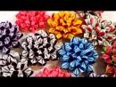 Волшебные цветы канзаши из ленты 2.5 см_Magic Fowers Kanzashi