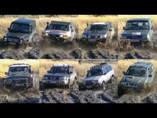 Mercedes G vs Toyota FJ Cruiser Land Cruiser vs Nissan Patrol Terrano