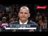 Sgt. 1st Class Luciano Yulfo Honored and Surprised at Knicks Game