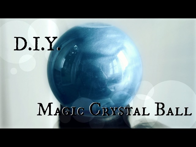 How to make a Fortune Tellers Crystal Ball DIY Halloween Prop The Magic Crafter