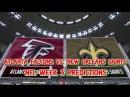 ATLANTA FALCONS VS. NEW ORLEANS SAINTS PREDICTIONS   #NFL WEEK 3   FULL GAME