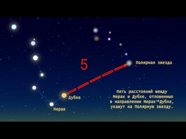 Как найти Полярную звезду? Как найти Малую Медведицу? Схема Большого Ковша (Инфографика).