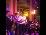 Steven Seagal (guitar), Azat Bekishev (saxophone) Jam session . Astana city, Kazakhstan
