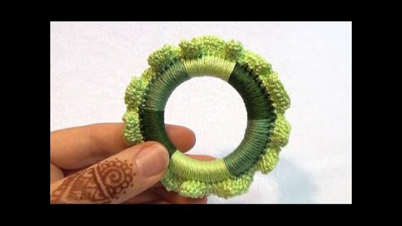 Как связать Многоцветное колечко с каёмочкой (МК №13) Crochet Teething Ring Tutorial