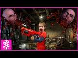 NERF WAR vs Giant Spider. Нерф Война с Гигантским пауком. Bad Baby attack zombie. Зомбаук атакует