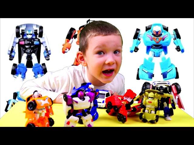 Mini tobots robots transformers!Много мини тоботов трансформеров!