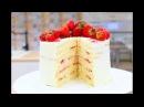 Торт Молочная Девочка Бисквитный Торт с Клубникой Sponge Cake Recipe