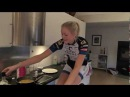 Siri (Hitec Products) cooks omelette on the rollers