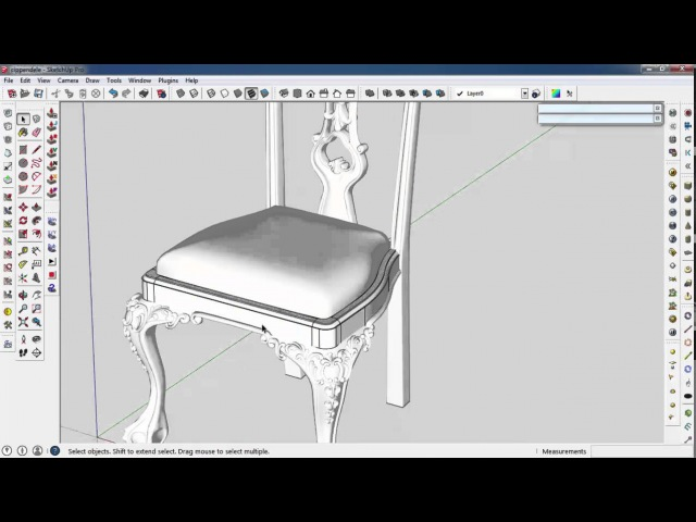 Sketchupartisan(chippendale chair part 8)