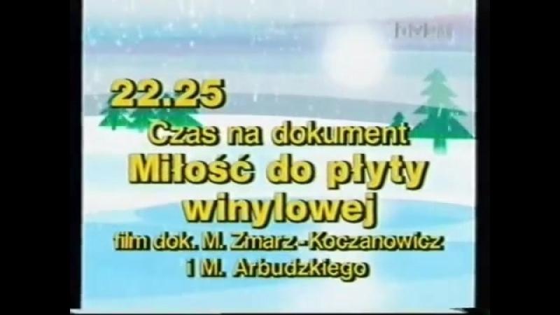 Программа передач и конец эфира (TVP1 [Польша], 03.02.2003)