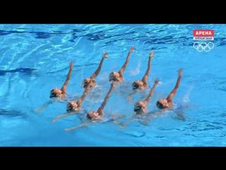 Выступление сборной России по синхронному плаванию произвольная программа. РИО 2016.