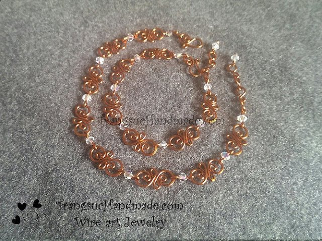 Simple copper wire bracelet - designer handmade jewelry 100