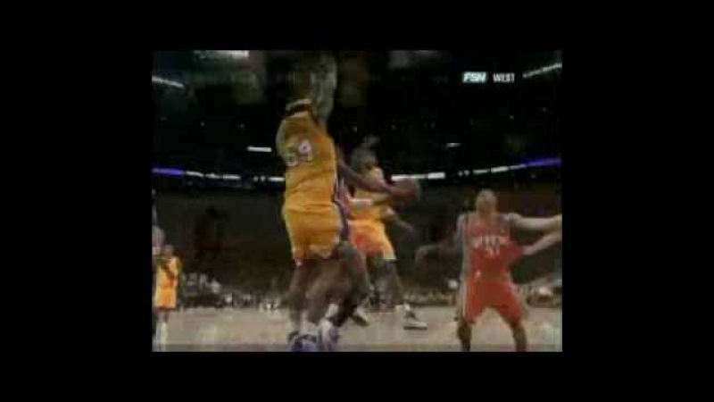 Kwame Brown's Clutch Blocks On Leandro Barbosa! (26.04.2007 - Game 3)