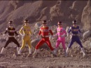 Power Rangers In Space First Morph and Fight Power Rangers vs Quantrons