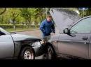На перекрестке Ленина-Нефтяников не поделили дорогу два автомобиля