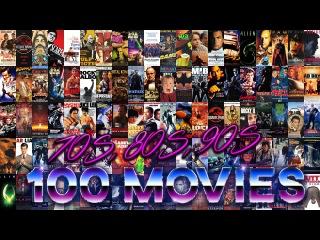 100 фильмов 70-х, 80-х и 90-х в динамичном мэшапе