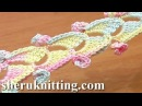 Crochet Ribbon Tape With Spirals Tutorial 46 Lace Cord 3D