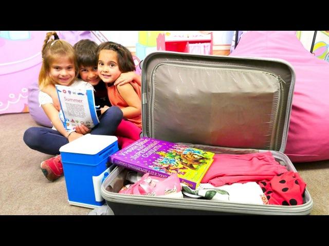 FındıkAilesi tatile gitmek için bavul hazırlıyor. kızerkekçocuk için eğitici video